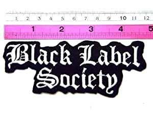 Band-black label society patch gilet veste patch sew iron embroidered on badge sign