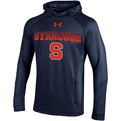 NCAA Syracuse Orange Men's Tech Terry Popover Hoodie, Small, Navy