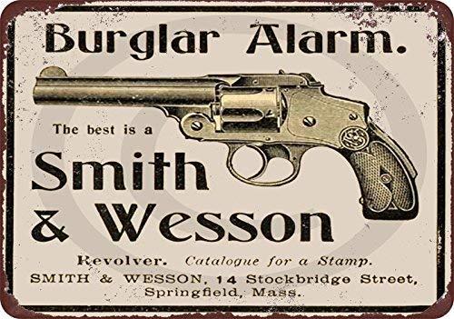 qidushop 1899 Revolver Smith & ☛ Wesson Vintage Reproduction Plaque en  métal décorative pour Femme 20 x 30 cm
