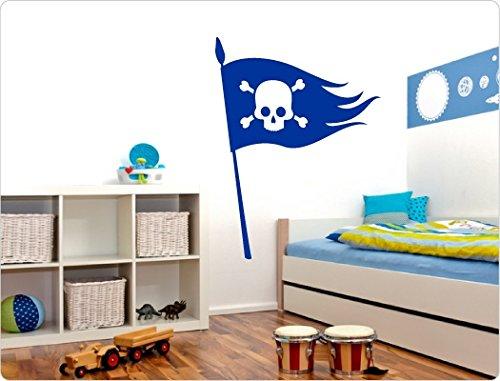'I-love-Wandtattoo-Adesivo 11248adesivo da parete Bandiera pirata