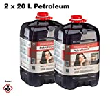CAGO PetroHeat Petroleum Doppelpack Inhalt: 2 x 20 L für Petroleumofen Heizofen Petroleumheizung