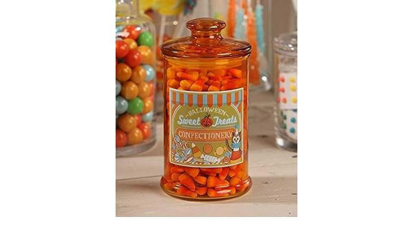 "LC5468 Bethany Lowe 8.5/"" Sweet Treats Glass Candy Jar Halloween Decoration Snack"