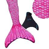Fin Fun Mermaid Tail verstärkte Tipps, mit Monoflosse, Malibu Pink, Größe Erwachsene XS