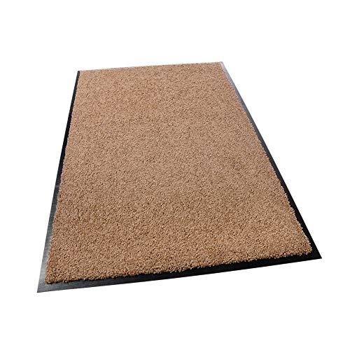 acerto EVODIA Premium Schmutzfangmatte für den Außenbereich, taupe - Strapazierfähig Lavendel-Duft Frostsicher Fußmatte für die Haustür -