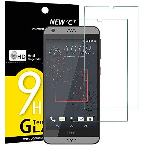 NEW'C Lot de 2, Verre Trempé pour HTC Desire 530, Film Protection écran - Anti Rayures - sans Bulles d'air -Ultra Résistant (0,33mm HD Ultra Transparent) Dureté 9H Glass