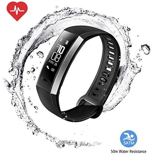 GeGien Multifunktions Smart Watch Herzfrequenz Blut Druck Sauerstoff Monitor Tracker Smart Fitness Armband Pulsmesser Fitness Track für iOS Android (Schwarz)