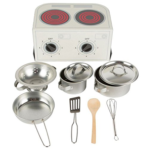 Sass & Belle-Kinder Kochtopfset in grau aus Metall (Grau / Sterne, Töpfe)
