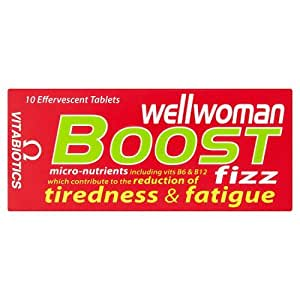 Vitabiotics Wellwoman Boost Orange and Peach Effervescent Tablets - Pack of 10 Tablets