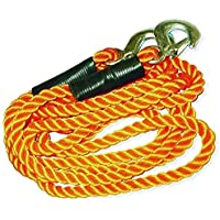 cuerda de remolque 3000 kg con 2 mosquetones 3.60 mts 3000 kgs