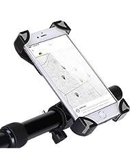 YOHOOLYO Support Vélo Smartphone Support Télephone Vélo Support Smartphone VTT Rotatif à 360 Universel et Réglable pour Téléphone Portable de 4-6,5 pouces Comme iPhone/Samsung/Huawei etc