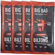 BEEFit Snacks 1kg (4x250g) Biltong, High Protein, Healthy, Low Sugar, Carb Killer Snack - Not Beef Jerky (Chilli)