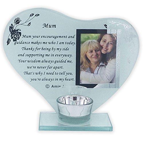 Cornice portafoto in cristallo su targa con poesia, decorazione, ornamento per cimitero, idea regalo per mamma, sorella, amico speciale, plastica, mum