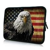 PEDEA Design Schutzhülle Notebook Tasche bis 15,6 Zoll (39,6cm), American Eagle