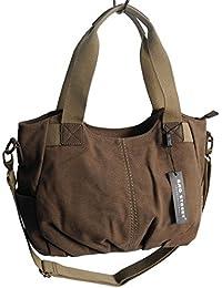 Lässige Canvas Tasche von Jennifer Jones - Damentasche , Shopper , Umhängetasche , Vintage Handtasche , Schultertasche - Baumwollstoff Segelstoff ( Farbauswahl ) - präsentiert von ZMOKA®
