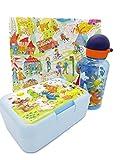 Die Spiegelburg Lieben Sieben Trinkflasche 400 ml und Brotdose Butterbrotdose Trennwand Geschenk Kindergartenkind