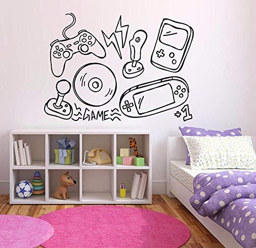 Spiel Wandaufkleber Video Game Controller Vinyl Wandtattoo Junge Spielzimmer Dekoration Game Player Stil Wandkunst Wandvinyl Kunst 79x59 cm (Video Game Sales)