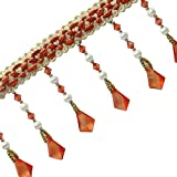 Upholstery Dekorative Beaded Fringe Orange Ribbon Vorhang Bastelbedarf von der