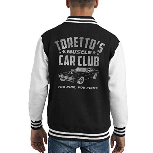Fast and The Furious Torettos Muscle Car Club Kid's Varsity Jacket -