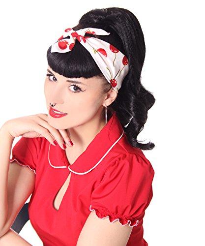 SugarShock 50s retro Kirschen Pin Up Rockabilly Cherry Hairband Frisuren Haar Tuch Nickituch Bandana