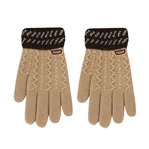 CCMOO Winter Handschuhe Kinder Säugling Klassische Verdicken Hot Girls Jungen Winter Warme Handschuhe Handschoenen Handschuhe Gants Hiver Handschuhe-khaki (Hot Biker Kostüm)