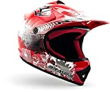 "ARMOR · AKC-49 ""Red"" (Rot) · Kinder-Cross Helm · Motorrad Moto-Cross Enduro Kinder Off-Road Sport · DOT certified · Click-n-Secure™ Clip · Tragetasche · XS (51-52cm)"