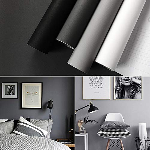 Hode impermeabile carta da parati adesiva muro, autoadesivo peel and stick carta adesivi per frigorifero, muro, porta, mobili, autoadesivo wall sticker da muro, grigio