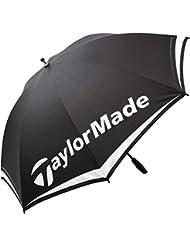 "TaylorMade TM Single Canopy Paraguas de Golf, Unisex Adulto, Negro / Blanco / Rojo, 60"""