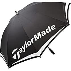 Taylor Made TM Single Canopy Paraguas de Golf, Unisex Adulto, Negro/Blanco / Rojo, 60""