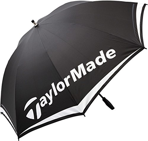 Taylor Made, 2017 TM, ombrello da golf, maschile, modello a cupola, 152,4 cm, leggero e singolo, unisex, Tm Single Canopy, Black / White / Red, 60""