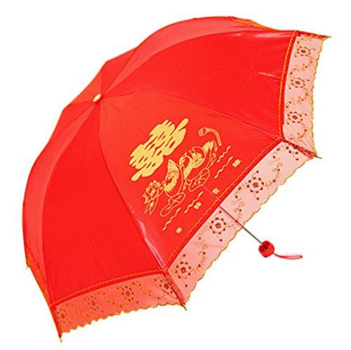 GTWP GT Umbrella Spitzenspitze Umbrella Sun Rain Umbrella Handbuch Umbrella Anti-UV Waterproof Parasol Regenschirm Sunshade Wedding Dekoration Regenschirm