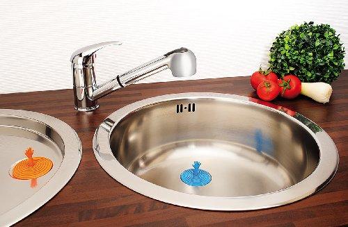 infactory Abflussstöpsel: 2er-Set lustige Abfluss-Stöpsel für Becken, Wanne & Co, aus Silikon (Wasserstöpsel)