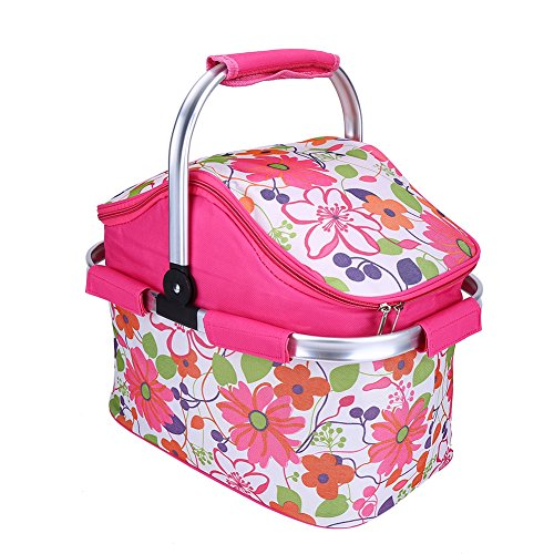 Bolsa de picnic, portátil para camping, picnic, enfriador térmico, bolsa de almacenamiento de alimentos, bolso de viaje