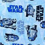 Visage Star Wars Stoffe, 100% Baumwolle, 0,5 m weiß