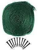 COM-FOUR® Vogelschutznetz - Idealer Schutz Ihres Gartenteiches, Bäume und Beete 6 x 5 m Grün