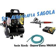 Set Completo de Aerografía de Sagola