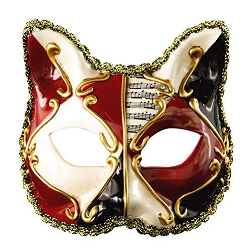 Zhhyltt Maskerade Halloween Party Nacht Maske - Venezianischen Stil Katze Masken mit Notizen für Kind Karneval Kostüm Cosplay