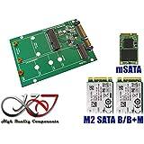 KALEA-INFORMATIQUE © - Adaptateur M.2 (NGFF) et/ou mSATA miniPCIe vers SATA 3 - Idéal pour la récupération de données !