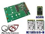 Adapter M2 (M.2 NGFF SATA B Key oder B+M Key) und/oder mSATA zu SATA 15+7