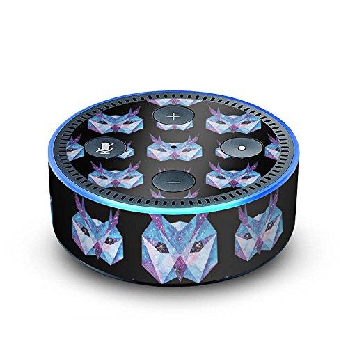 amazon Echo Dot 2.Generation Folie Skin Sticker aus Vinyl-Folie Eule Space Owl Galaxy