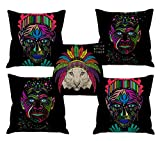 #10: Aart Cushion Covers With Filler(Multi Color_ 24X24 Set Of 5)