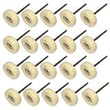 cnmade montado fieltro de lana Pulido Buff Buffer polaco Rueda con mandril para Dremel herramientas rotatorias 2,35mm vástago Pack de 20