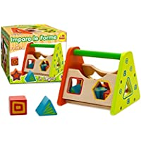 405047 Juego educativo ENCAJAR LAS FORMAS de madera en colores con 6 formas - Peluches y Puzzles precios baratos