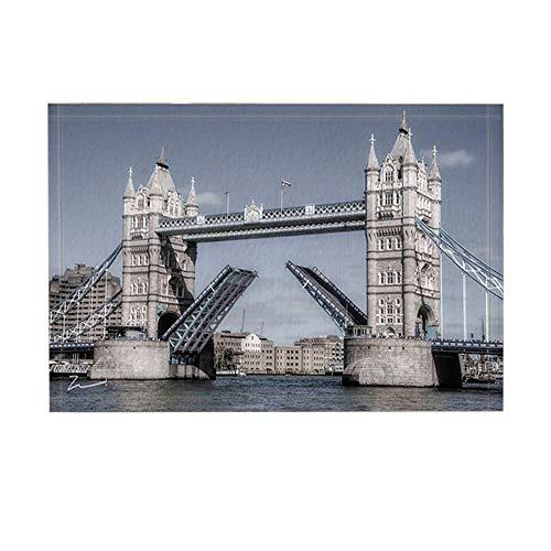 GzHQ Wahrzeichen Bad Teppiche London Symbol Gebäude Tower Bridge auf der Themse rutschfeste Fußmatte Boden Eingänge Indoor Haustür Matte Kinder Badematte 15.7x23.6in Badezimmerzubehör -
