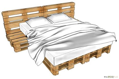 ETCO-PLUS Palettenmöbel -Toronto Doppelbett mit Nachtkästchen - Bausatz