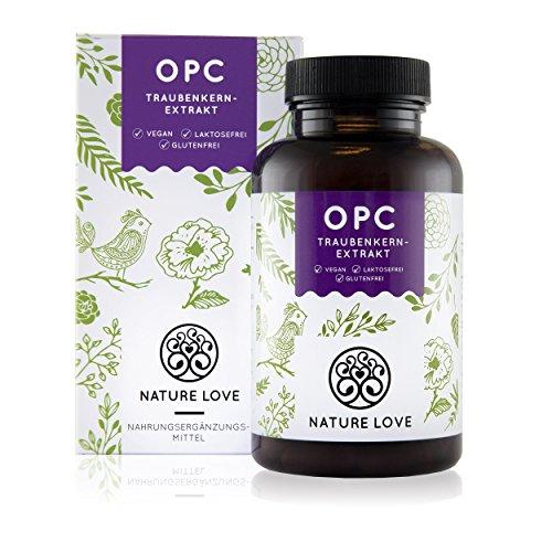 OPC Traubenkernextrakt - 120 Kapseln im 2 Monatsvorrat. Höchste Premium Qualität: 750mg Extrakt, davon mindestens 300mg reines OPC pro Tagesdosis.