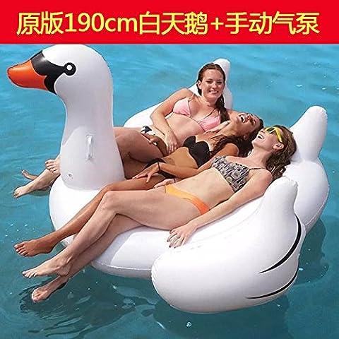 Flamingo Super,poudre swan hot springs, supports gonflables sur l'eau,lits flottants,enfants,piscine flottante adultes bagues,Original 190cm pompe à air main White Swan HNAA