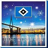 Hamburger SV Premium Schoko-Adventskalender, Weihnachtskalender (200g), mit 25 großen Schoko-Talern mit einem tollen Vereinsposter und GRATIS Aufkleber