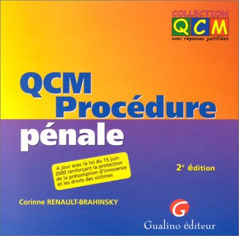 QCM Procédure pénale. 2ème édition