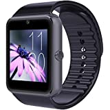 Skye Reker Smart Watch GT08 Clock Sync Notifier With Sim Card Bluetooth Connectivity Apple iphone Android Phone Smartwatch Watch (Black)