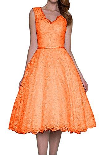 TOSKANA BRAUT - Robe - Trapèze - Femme Orange
